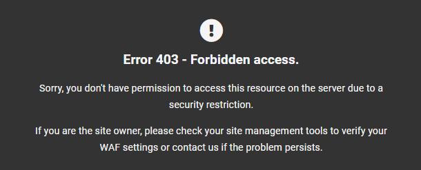 Default WPMU DEV error 403 page