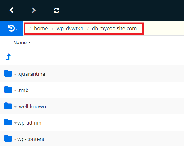 Finding WordPress install path at DreamHost