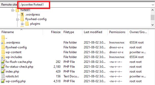 Finding WordPress install path at Flywheel