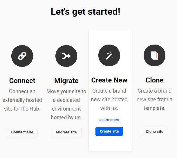hosting-create-new-site