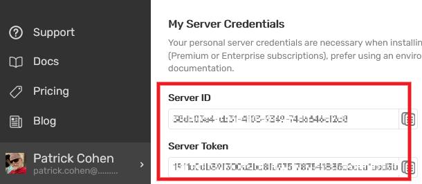 Get user credentials in Blackfire account