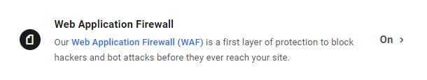 Enable WAF on a WPMU DEV hosted site
