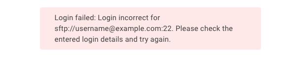 """""""Login incorrect"""" error"""