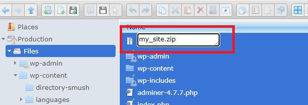 my site zip archive