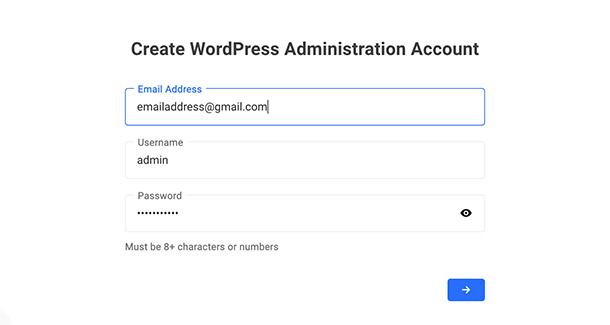 Create admin credentials