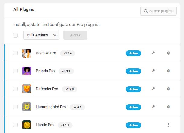 WPMU DEV Plugin manager