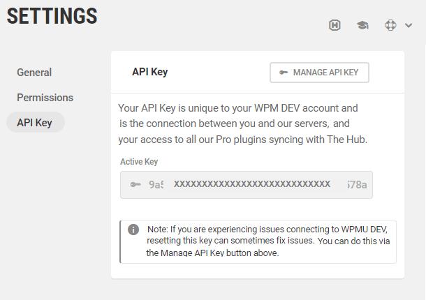 Access or reset your API key