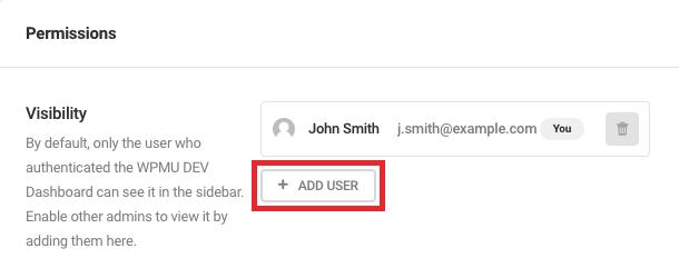 Add User button