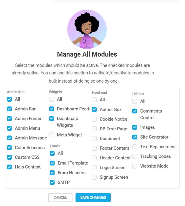 Branda-modules-all