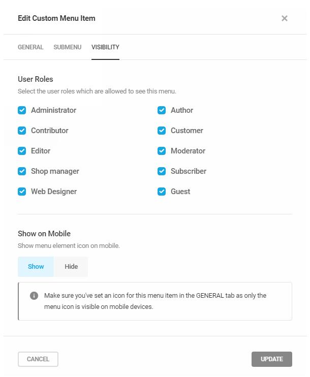 Branda-add-custom-menu-item-visibility