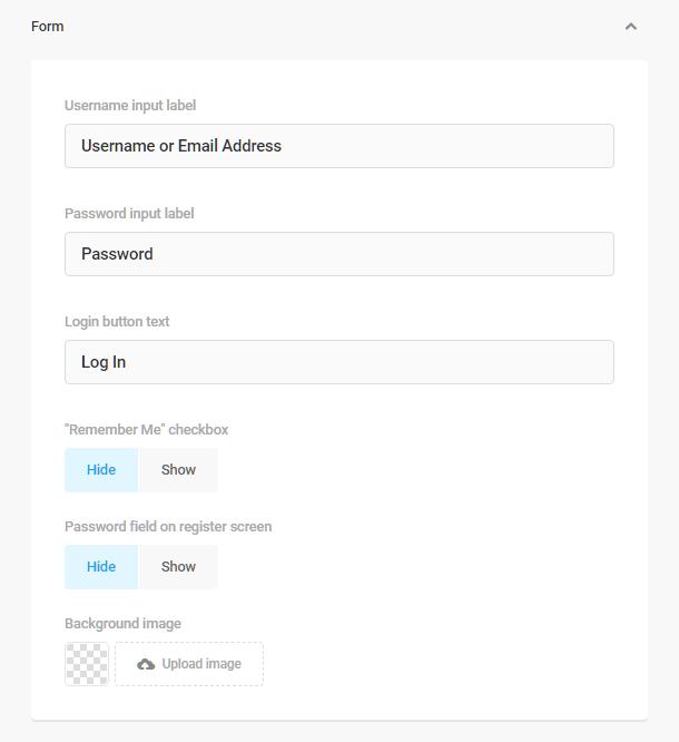 Branda-login-screen-form-options