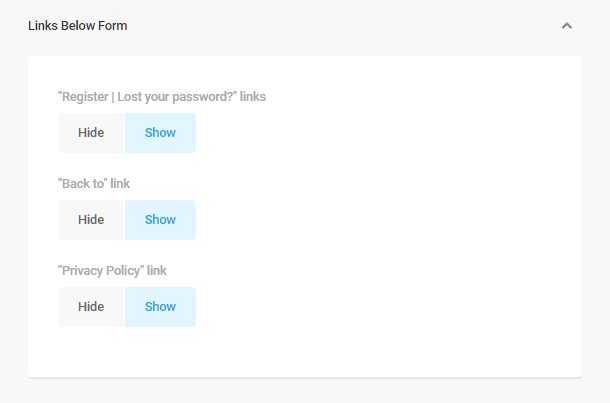 Branda-login-screen-link-options