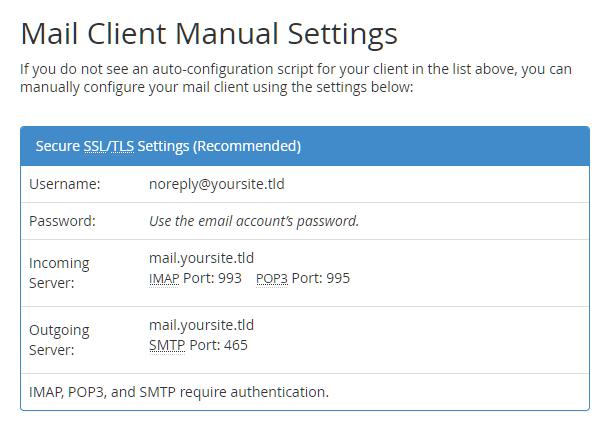 cPanel-smtp-server-settings