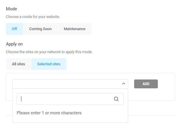 Branda-website-mode-configuration