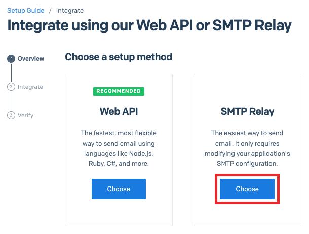 Sendgrid integrate (step 1)