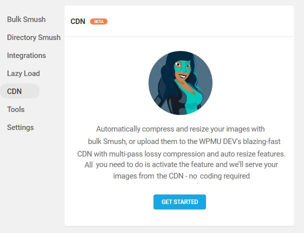 activate smush CDN