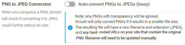 auto convert PNGs to JPEGs