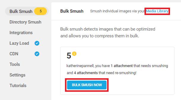 bulk smush images