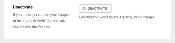 deactivate local webP