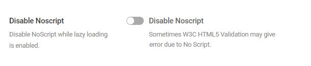 disable noscript