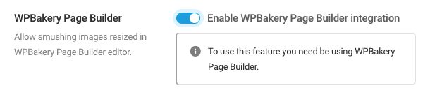 Enable WPBakery Page Builder integration
