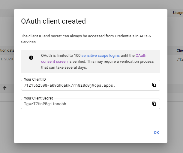 0Auth client credentials