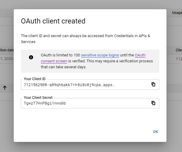 0Auth client credentials