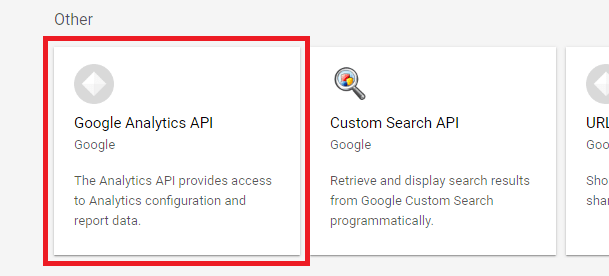 Google Analytics API location