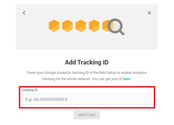 Add Tracking ID only