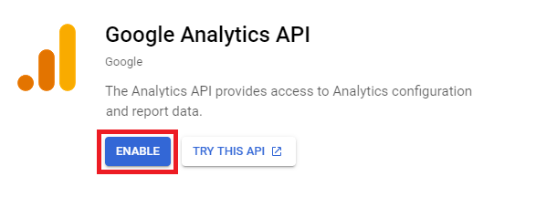 Enable Google Analytics API for Beehive