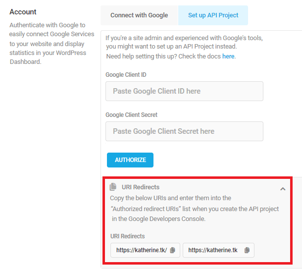 URI Redirects copy feature