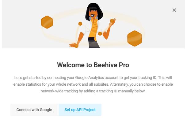 beehive welcome modal