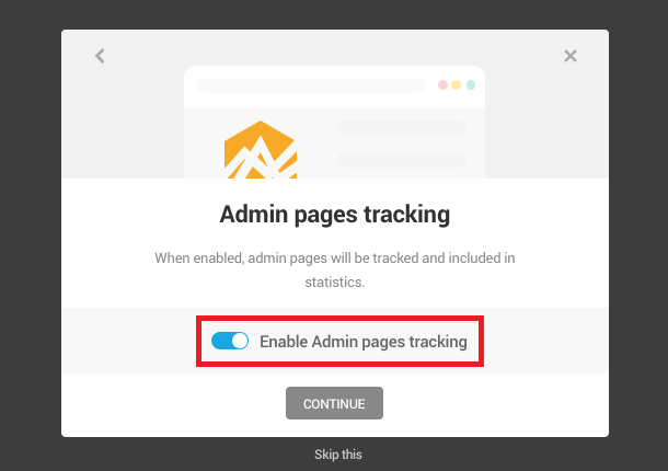Beehive Admin page tracking screen
