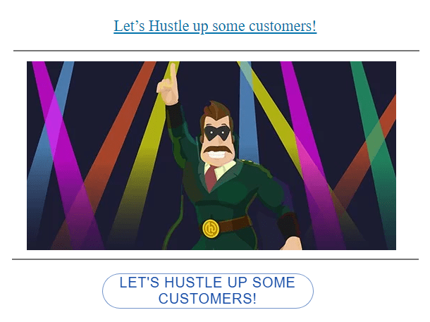 Default Hustle trigger styled with CSS