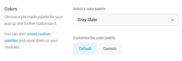 default color palettes