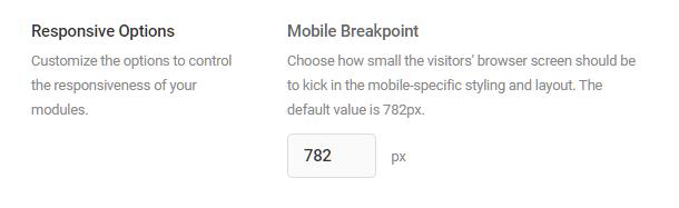 Mobile breakpoint option in Hustle