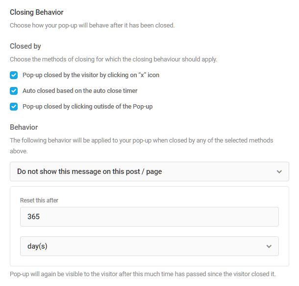 Additional behavior options for closing Hustle modules