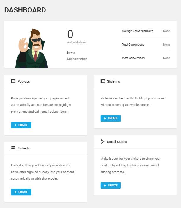 Hustle dashboard screen