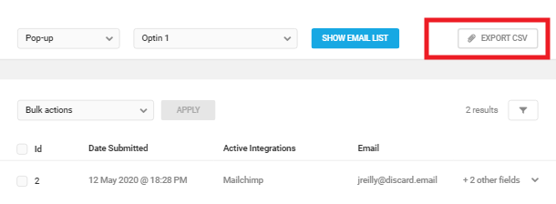 Export subscriber list in Hustle email list module