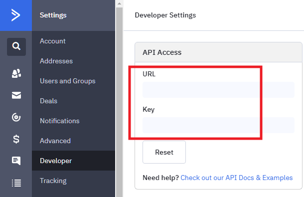 Get ActiveCampaign API key for integration with Forminator