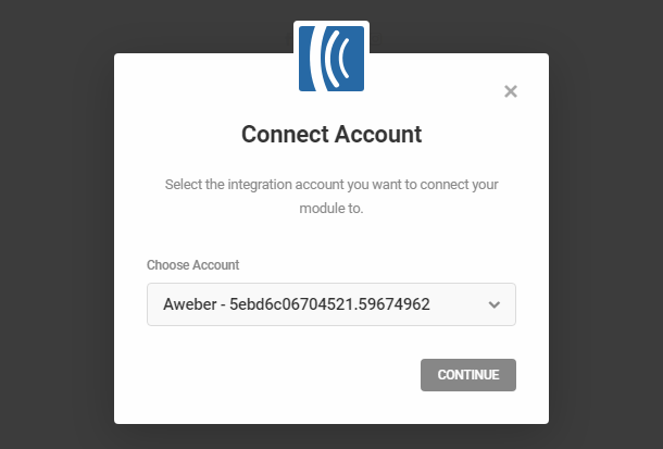 Connect to Aweber account in Hustle opt-in module