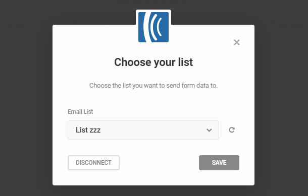 Select Aweber list in Hustle opt-in module