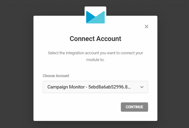 Connect to Campaign Monitor account in Hustle opt-in module
