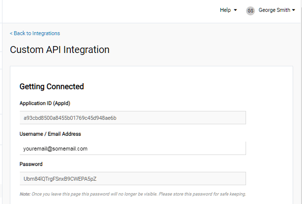 Step 3 to create new app at iContact for integration with Hustle