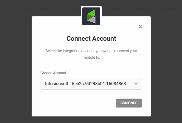 Connect to InfusionSoft account in Hustle opt-in module