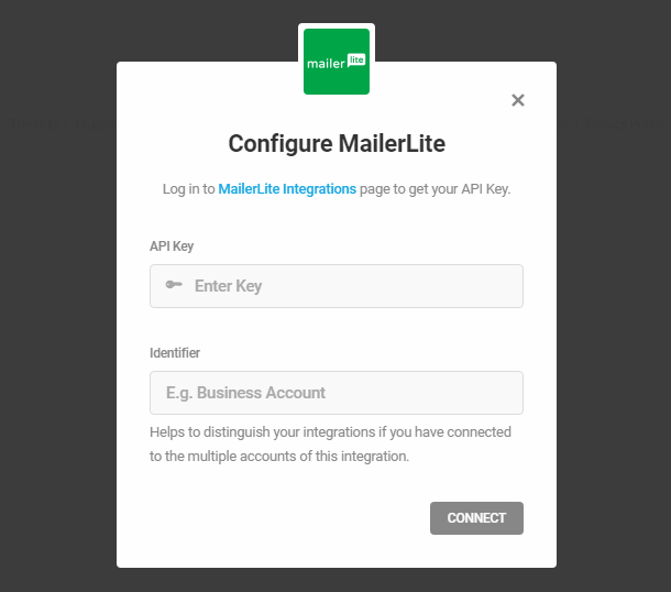 MailerLite integration with Hustle