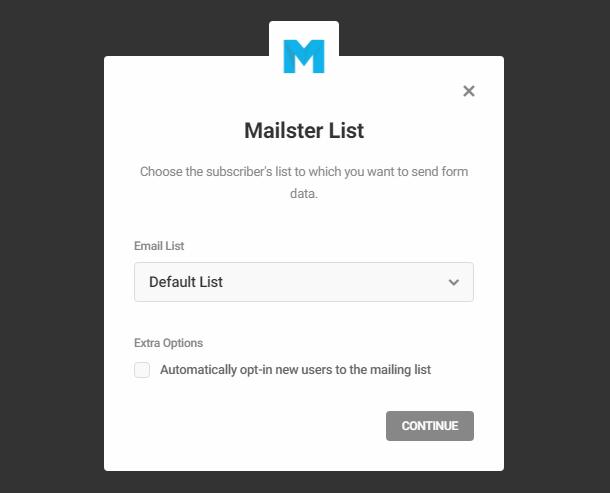 Select Mailpoet list in Hustle opt-in module