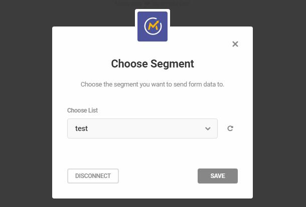 Select Mautic segment in Hustle opt-in module