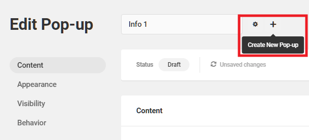 Create a new module from within the Hustle editor