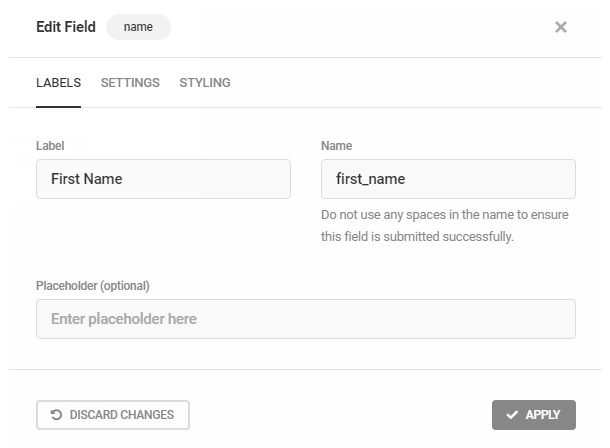 Customize form field labels in Hustle optin module